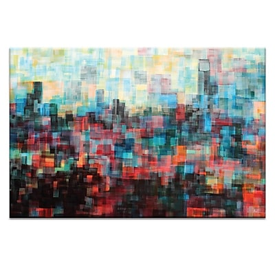 Artist Lane Skyline I by Jennifer Webb Painting Print on Wrapped Canvas; 20'' H x 30'' W x 1.5'' D