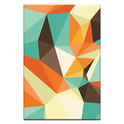 Artist Lane Shard Retro by Ayarti Framed Graphic Art on Wrapped Canvas; 18'' H x 12'' W x 1.5'' D