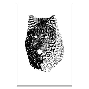 Artist Lane Wolf Mask by Ayarti Framed Graphic Art on Wrapped Canvas; 30'' H x 20'' W x 1.5'' D
