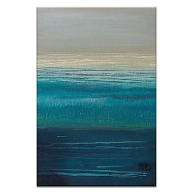 Artist Lane Distant Shores by Karen Hopkins Framed Painting Print on Wrapped Canvas