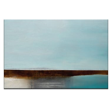 Artist Lane Turquoise Bay by Katherine Boland Painting Print on Wrapped Canvas