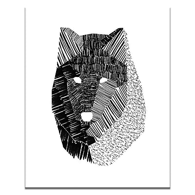 Artist Lane Wolf Mask by Ayarti Framed Graphic Art on Wrapped Canvas; 20'' H x 16'' W x 1.5'' D