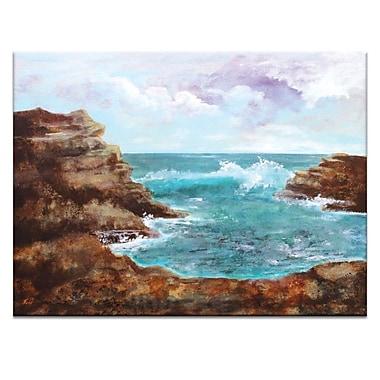Artist Lane Ocean Inlet I by Jennifer Webb Framed Painting Print on Wrapped Canvas