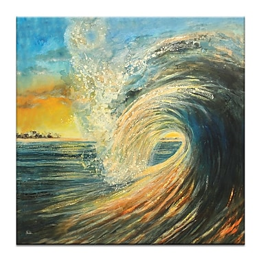 Artist Lane Last Wave by Jennifer Webb Framed Painting Print on Wrapped Canvas