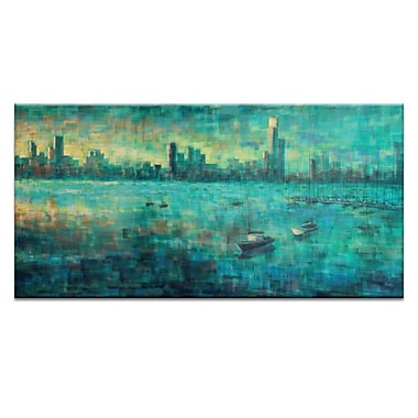 Artist Lane Bay View VIII by Jennifer Webb Framed Painting Print on Wrapped Canvas