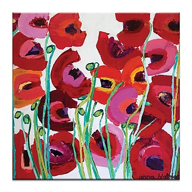 Artist Lane Mixed Poppy by Anna Blatman Framed Painting Print on Wrapped Canvas
