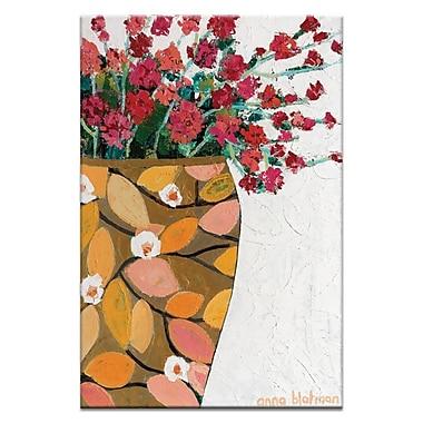 Artist Lane Golden Geranium by Anna Blatman Framed Painting Print on Wrapped Canvas