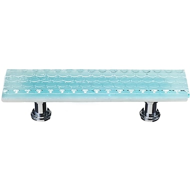 Sietto Texture 3'' Center Bar Pull; Polished Chrome