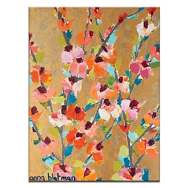 Artist Lane Golden Blooms by Anna Blatman Framed Painting Print on Wrapped Canvas