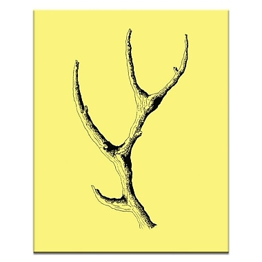Artist Lane Wooden Antler by Ayarti Framed Graphic Art on Wrapped Canvas