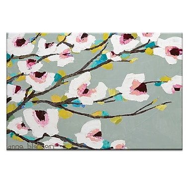 Artist Lane Chunky Magnolia by Anna Blatman Framed Painting Print on Wrapped Canvas