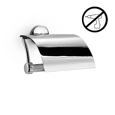 WS Bath Collections Noanta Self-Adhesive Toilet Paper Holder w/ Cover
