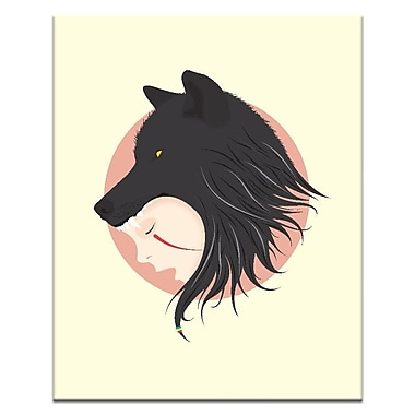 Artist Lane Boy Cries Wolf by Ayarti Graphic Art on Wrapped Canvas; 40'' H x 30'' W x 1.5'' D