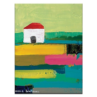 Artist Lane Rural by Anna Blatman Framed Painting Print on Wrapped Canvas; 40'' H x 30'' W x 1.5'' D