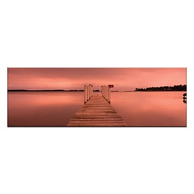 Artist Lane Peaceful Pier by Andrew Brown Framed Photographic Print on Wrapped Canvas