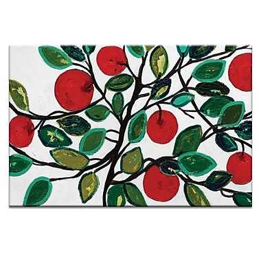 Artist Lane Apples 2 by Anna Blatman Painting Print on Wrapped Canvas; 40'' H x 60'' W x 1.5'' D