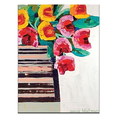 Artist Lane Tulips by Anna Blatman Painting Print on Wrapped Canvas