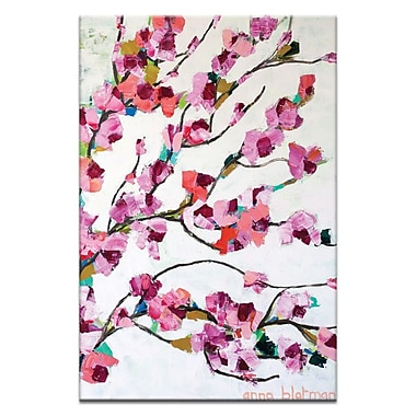Artist Lane Pink Magnolia by Anna Blatman Framed Painting Print on Wrapped Canvas