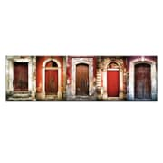 Doors of Italy - Le Porte Rosse by Joe Vittorio Framed Photographic Print on Wrapped Canvas