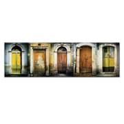 Doors of Italy - Le Porte Gialle by Joe Vittorio Framed Photographic Print on Wrapped Canvas