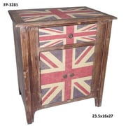 Cheungs Union Jack 1 Drawer 2 Door Cabinet