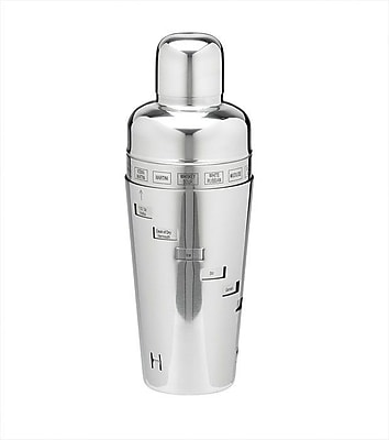 Kraftware Stainless Steel 32 Oz. Recipe Cocktail Shaker WYF078277013448