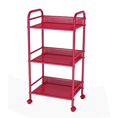 Dar Utility Cart w/ Casters; Red WYF078277022310