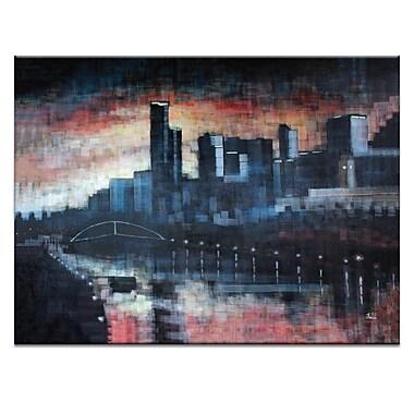 Artist Lane Southbank Night by Jennifer Webb Graphic Art on Wrapped Canvas