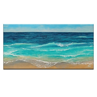Artist Lane Peaceful Sea by Jennifer Webb Framed Painting Print on Wrapped Canvas