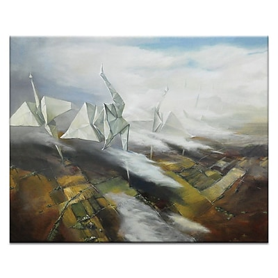 Artist Lane Gone w/ The Wind by Olena Kosenko Framed Painting Print on Wrapped Canvas