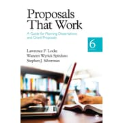 "Sage ""Proposals That Work: A Guide for Planning Dissertations and Grant Proposals"" Book"