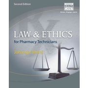 "CENGAGE LEARNING® ""Law and Ethics for Pharmacy Technicians"" Book"