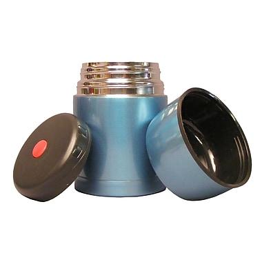 Geo Stainless Steel Vacuum Flasks, 600mL, Blue, 2/Pack