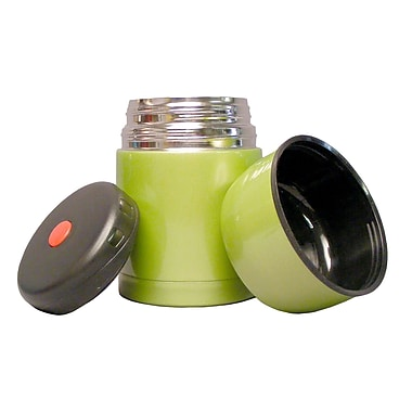 Geo Stainless Steel Vacuum Flasks, 600mL, Green, 2/Pack