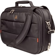 "Urban Factory City Classic Carrying Case With Document Compartment For 14.1"" Notebook, Black"