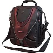 """Mobile Edge Mini Messenger Bag For 13.3"""" Laptops, Netbooks, iPads, Tablet PCs, Black/Red."""