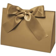 """Bags & Bows® Purse Style 8"""" x 3 1/2"""" x 5 1/2"""" Gift Box, Gold, 100/CT"""