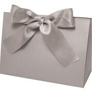 "Purse Style 8"" x 3 1/2"" x 5 1/2"" Gift Box, Silver chrome"