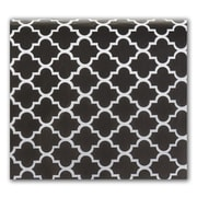 """Quatrefoil 20"""" x 30"""" Tissue Paper, Black"""