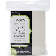 """Darice® Smooth 4"""" x 5""""(A2) Envelopes, Ivory, 50/Pack"""