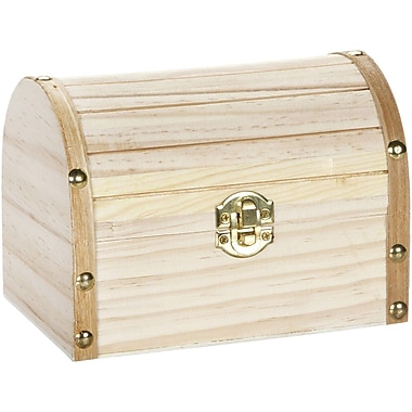 Darice® Wooden Chest Hinged With Clasp