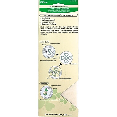 Clover Quick & Fusible Bias Tape Design Sheet, 4/Pack