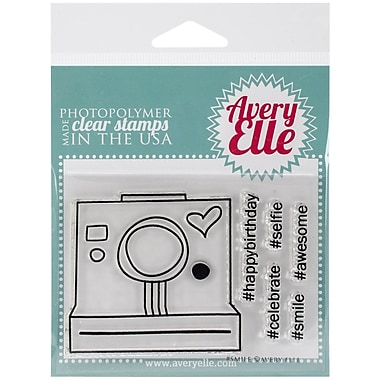 Avery Elle Photopolymer Clear Stamp Set, #Smile, 4