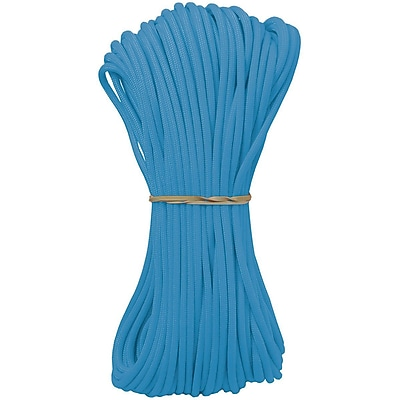 Pepperell Parachute Cord, 4 mm x 100', Baby Blue