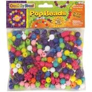 Chenille Kraft Creativity Street Pop Beads, Assorted, 300/Pack