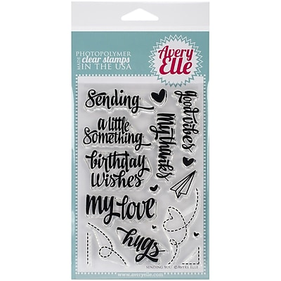 Avery Elle Photopolymer Clear Stamp Set, Sending You, 4