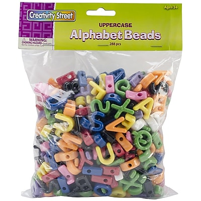 Chenille Kraft Creativity Street Upper Case Letter Beads, Assorted, 288/Pack