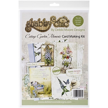 Debbi Moore Designs Shabby Chic Card Kit, Cottage Garden
