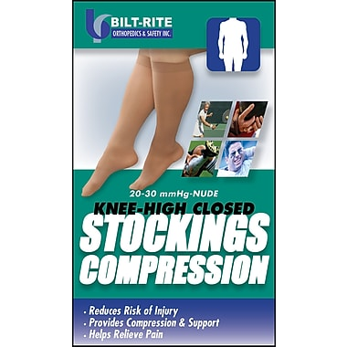 Bilt-Rite Mutual Knee High Black Stockings, Medium