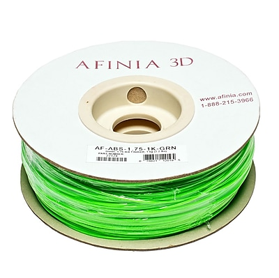 Afinia Value-Line H-Series 1.75mm ABS Plastic 3D Printer Filament, Green